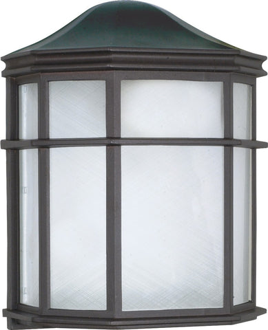 Nuvo 60-539 - Die-Cast Caged Outdoor Wall Lantern in Textured Black Finish