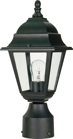 Nuvo 60-548 - Outdoor Post Lantern in Textured Black Finish with Clear Glass