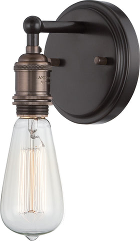 Nuvo 60-5515 - Wall Sconce and Vintage Light Bulb in Rustic Bronze Finish