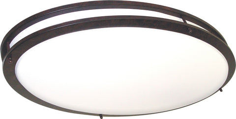 Nuvo 60-999 - 2-Lights Oval Flush Mount Ceiling Light Fixture in Old Bronze