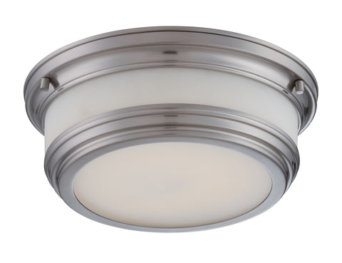 "Nuvo 62-326 - 1-Light 11"" Flush Mount LED Ceiling Lights in Brush Nickel Finish"