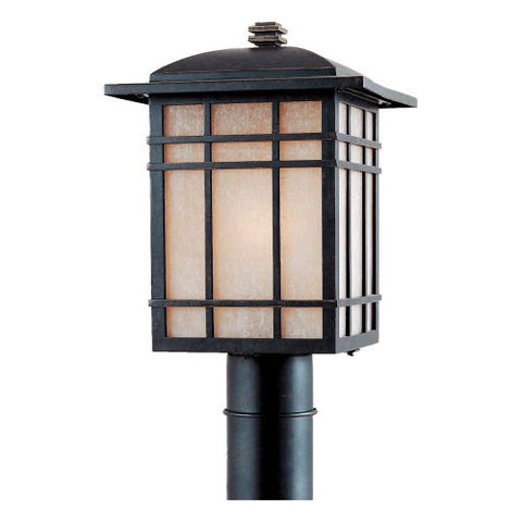 HC9011IBFL 1 Light Post Hillcrest Outdoor Lantern in Imperial Bronze