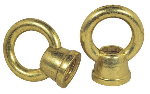 "Westinghouse 7025500 Two 1"" Brass Finish Female Loops"