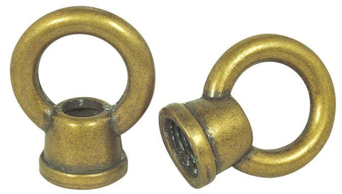 "Westinghouse 7025600 Two 1"" Antique Brass Finish Female Loops"