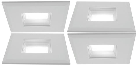 "3"" Inch LED Square Recessed Lighting Kit 4 Pack"