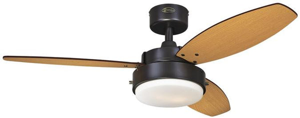 Alloy 42 Inch Reversible Three Blade Indoor Ceiling Fan