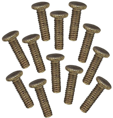 12 Antique Brass 1/2-Inch Fitter Screws - Lighting Supply Group