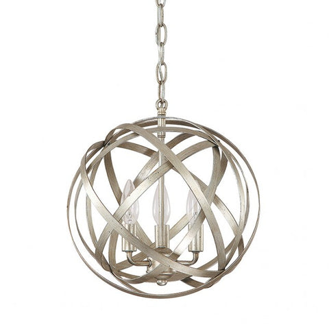 Capital Lighting 4233WG Axis 3 Light Pendant, Winter Gold Finish