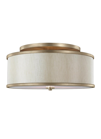 3 - LIGHT SEMI-FLUSH MOUNT Sunset Gold