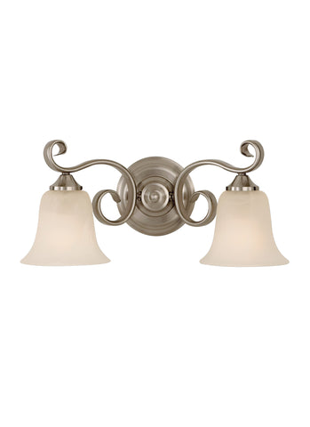 2 - LIGHT VANITY FIXTURE Brushed Steel