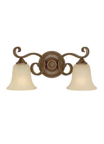 Vista Vanity Fixture, 2 Light, 200 Watts, Corinthian Bronze