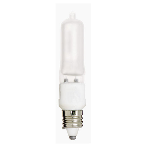 100 watt, Halogen, T4, Frosted, 2000 Average rated Hours, 1530 Lumens, Mini Cand base, 120 volts - Lighting Supply Group