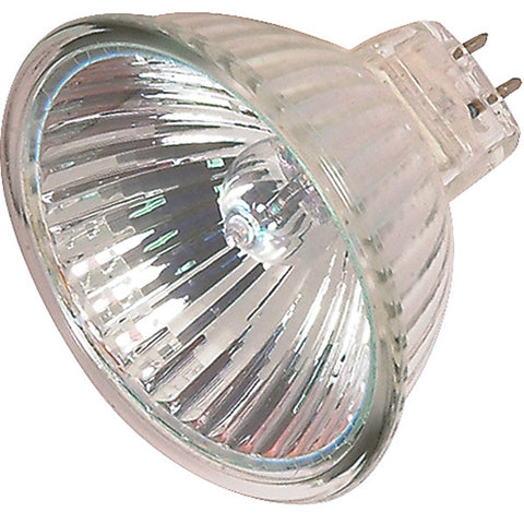 20 watt, Halogen, MR16, 4000 Average rated Hours, Miniature 2 Pin Round base, 12 volts