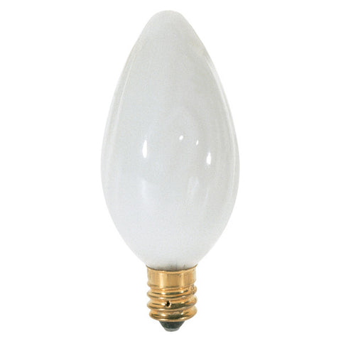 15 watt F10 Incandescent, White, 1500 average rated hours, 90 lumens, Candelabra base, 120 volts, 2/Card - Lighting Supply Group