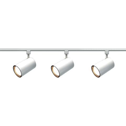 Nuvo TK318 - 3-Lights R30 Straight Cylinder Track Lighting Kit