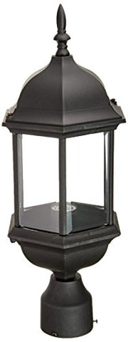 Designers Fountain 2976-BK Devonshire Outdoor Post Lanterns, 20 inch, Black
