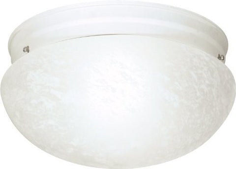 2 Light Cfl - 12 - Large Alabaster Mushroom - (2) 18W GU24 Lamps Included