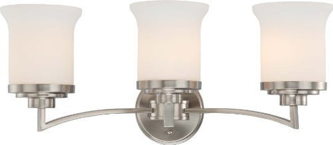 Harmony 3 Light 25 inch Brushed Nickel Vanity & Wall Wall Light