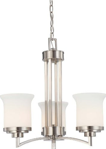 Harmony 3 Light 20 inch Brushed Nickel Chandelier Ceiling Light