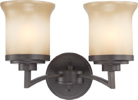 Harmony - 2 Light Vanity Fixture w/ Saffron Glass