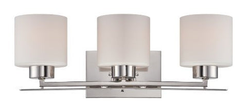 Parallel - 3 Light Vanity Fixture w/ Etched Opal Glass