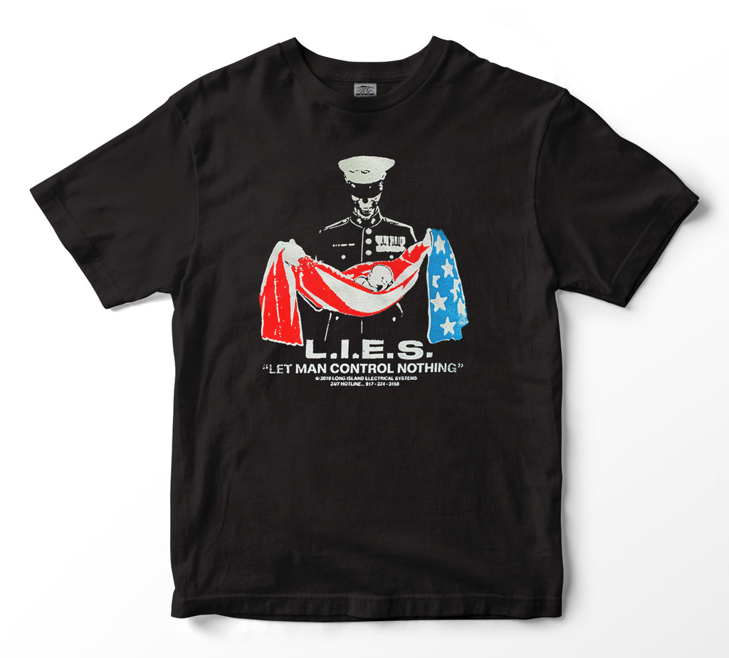 L.I.E.S. Records - Aborted Mission S/S t-shirt - Black