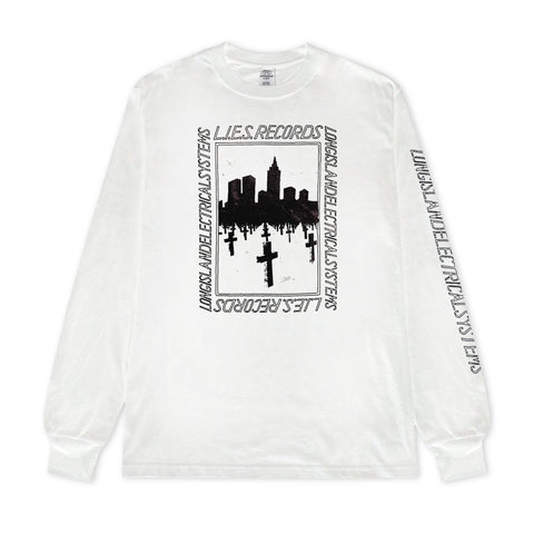 L.I.E.S. Records - BQE Graves L/S t-shirt - White
