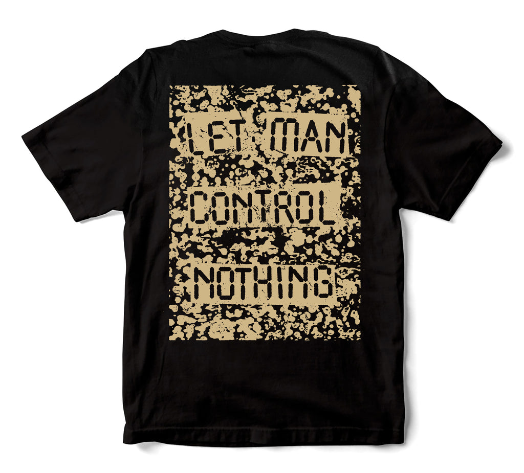 L.I.E.S. Records - NO CONTROL S/S t-shirt - Black