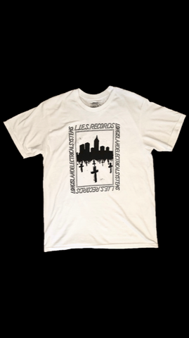 L.I.E.S. Records - Urban Grave Tee - White