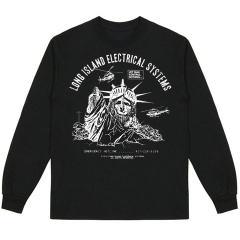 L.I.E.S. Records - Let Man Control L/S Tee - Black