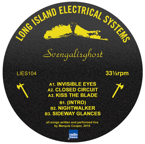 "Svengalisghost- TV Live LP - 12"" - LIES104"