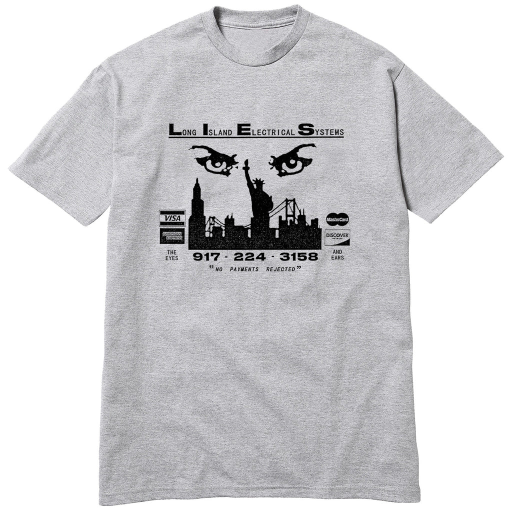 L.I.E.S. Records - The Eyes and Ears Tee - Heather Grey