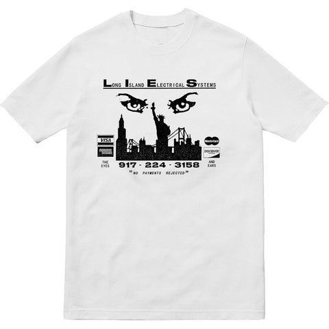 L.I.E.S. Records - The Eyes and Ears Tee - White