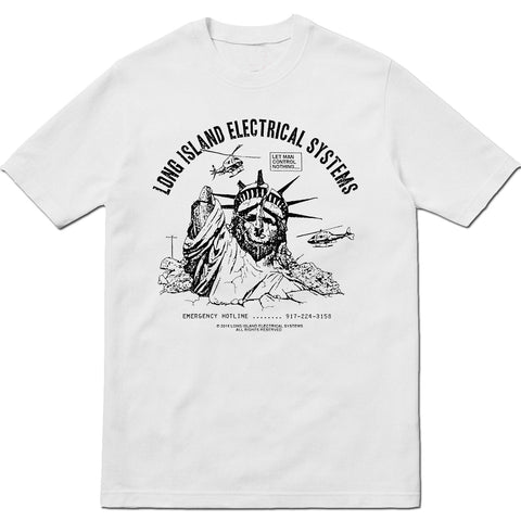 L.I.E.S. Records - Let Man Control Tee - White - DOVER STREET EXCLUSIVE