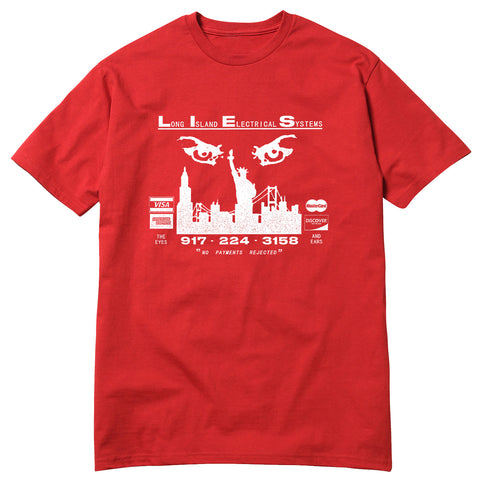 L.I.E.S. Records - The Eyes and Ears Tee - Red