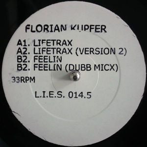 "Florian Kupfer ‎- Lifetrax (Original Pressing) - 12"" - LIES014.5 (LIMIT 1 PER CUSTOMER)"