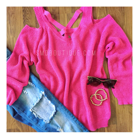 Tisha Sweater | Fuschia