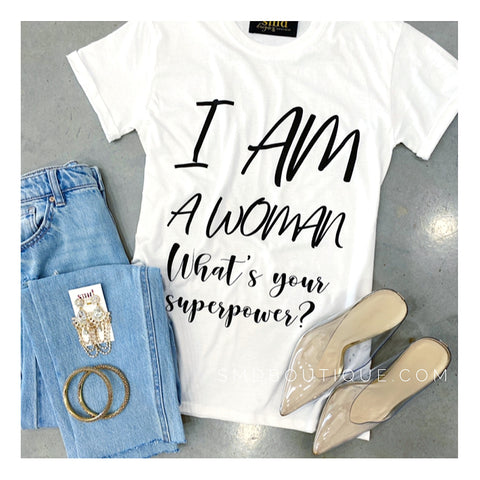 The Woman Tee - White