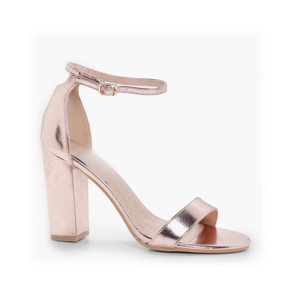 Rosi Heel - Rose Gold