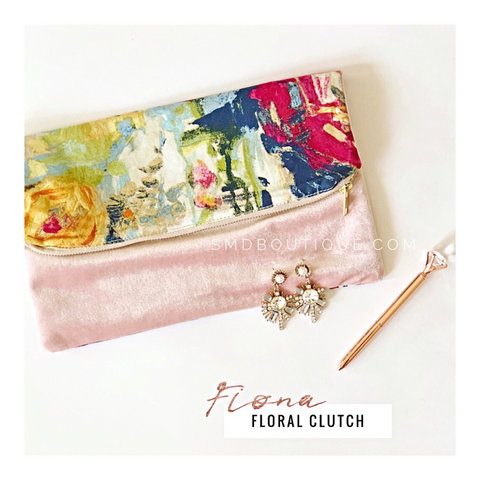 Fiona Floral Clutch