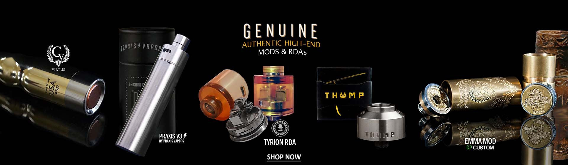 High-End Authentic Mechanical Mods