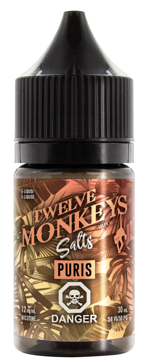 Puris Nic Salts - 12 Monkeys - Tricky Vapor St. Catharines Vape Shop Ontario Canada