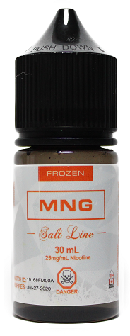 MNG Frozen Salt - Theory Labs - Tricky Vapor Vape Shop Store St.Catharines Ontario Niagara Canada