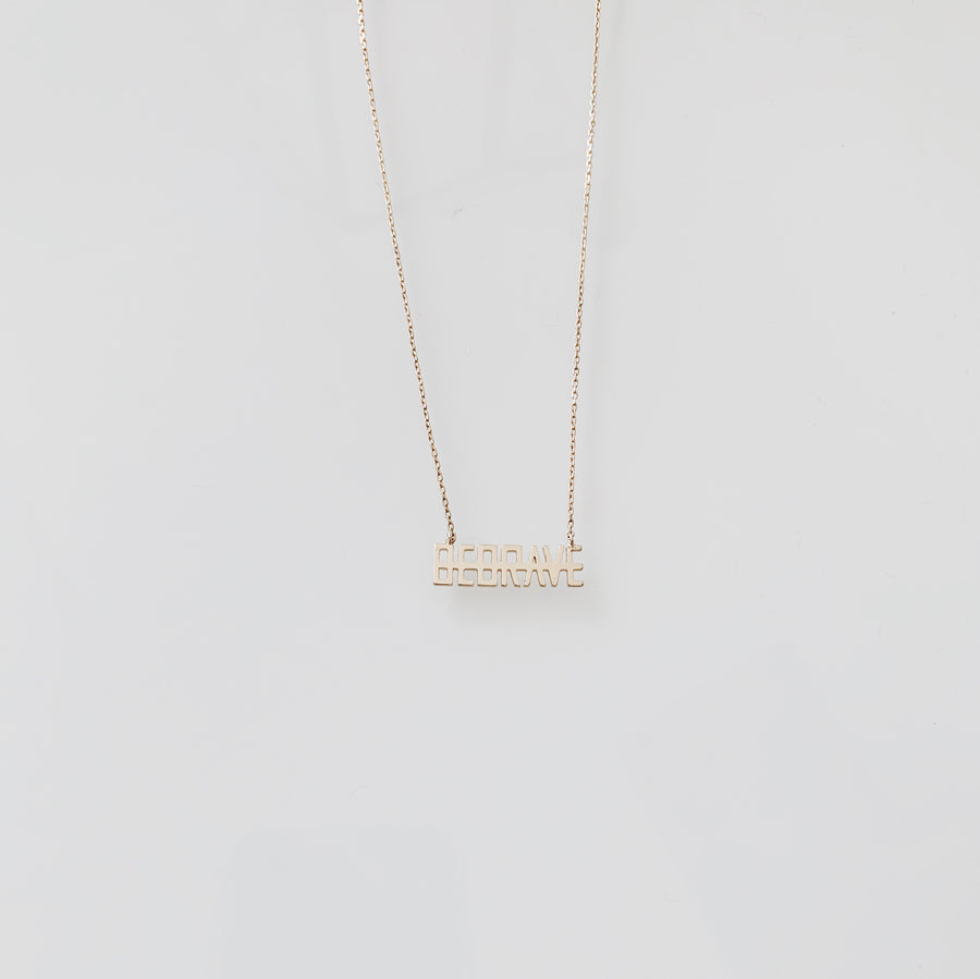 BE BRAVE Gold Necklace