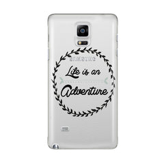 SAMSUNG H12 - Life is an Adventure - Inspirational Quote Phone Case Motivational Sayings Phone Cover