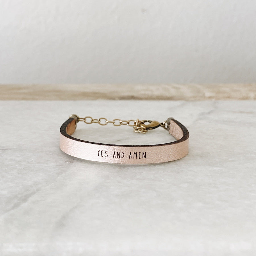 YES AND AMEN  - Leather Bracelet