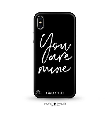 MATTE253 - YOU ARE MINE - Matte Series - Bible Verse Christian Quote TPU Phone Covers
