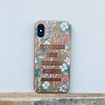 LE307 - SEEK FIRST HIS KINGDOM - Special Edition Wood Phone Case