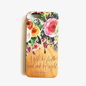 LE183 - WALK BY FAITH - Special Edition Wood Phone Case