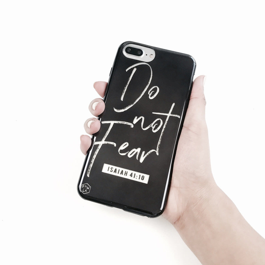 S213 - Do Not Fear - Shimmer Series - Bible Verse Chrome Design Phone Case